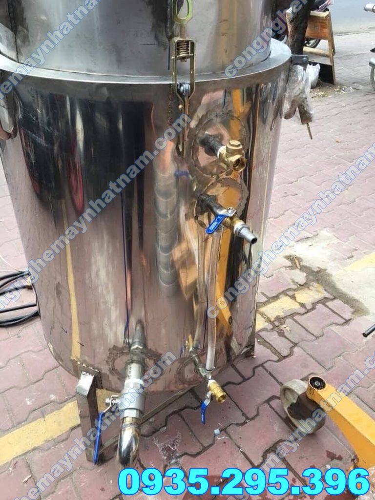 Nồi nấu rượu bằng điện 20kg inox